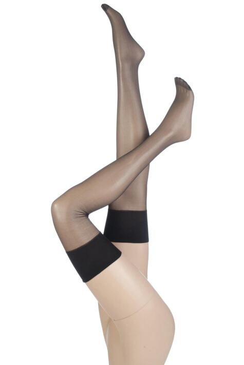 Ladies 2 Pair Pretty Polly 10 Denier Simply Sheers Stockings Product Image