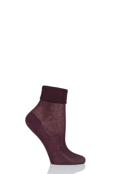 Ladies 1 Pair Charnos 100% Cotton Comfort Top Socks Product Image