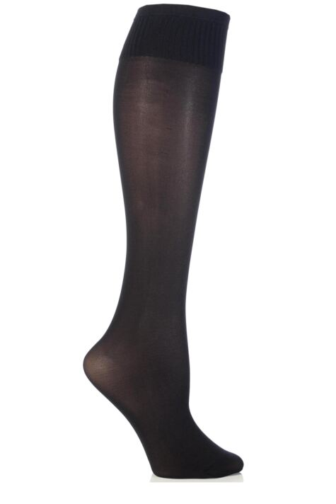 Ladies 1 Pair Trasparenze Laura Microfibre Knee Highs Product Image
