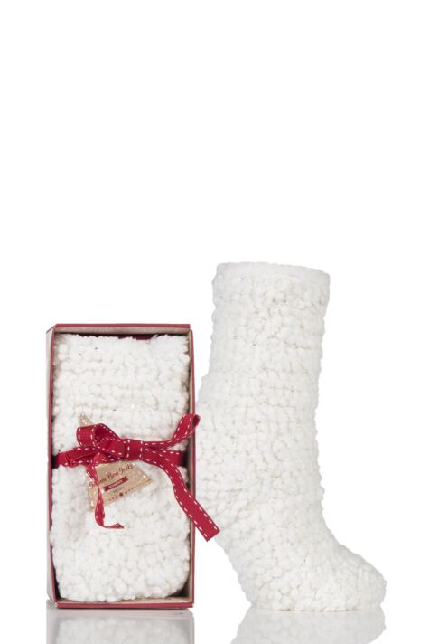 Ladies 1 Pair Totes Super Soft Sequin Fluffy Bed Socks Product Image