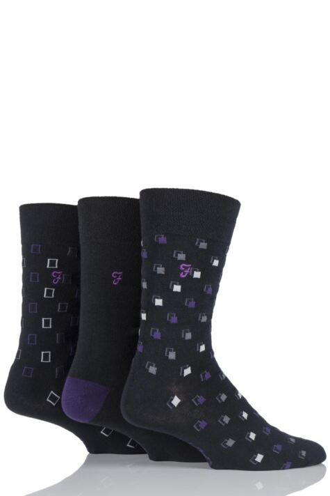 Mens 3 Pair Farah Classic Luxury Square Cotton Socks Product Image