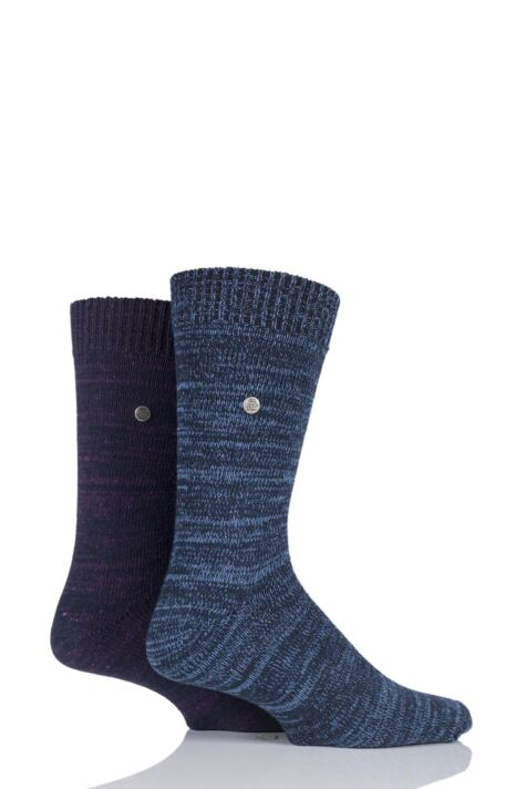 Mens 2 Pair Jeep Spirit Degraded Knit Cotton Socks Product Image