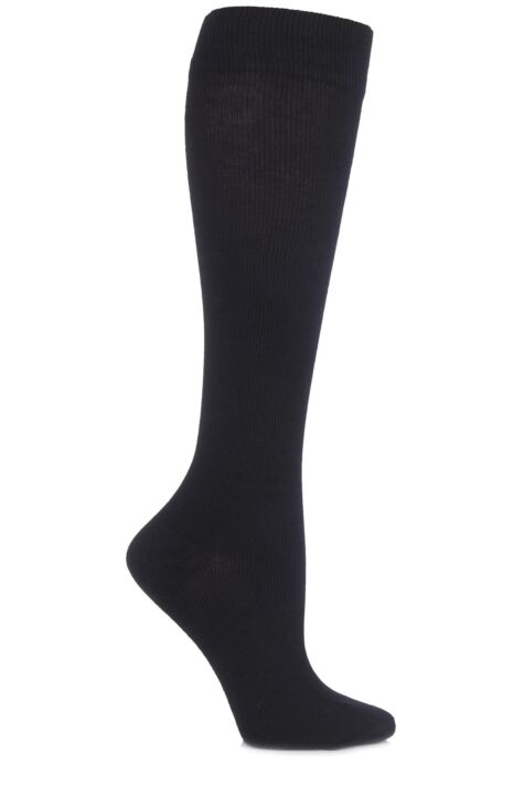 Ladies 1 Pair HJ Hall Flysafe Cotton Flight and Travel Socks Product Image