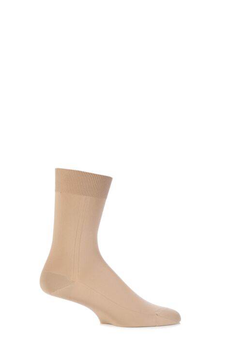 Mens 1 Pair Viyella Nylon Socks With Hand Linked Toe Product Image