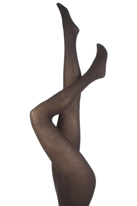 Ladies 1 Pair Levante Plain 100 Denier Wool Tights Product Image