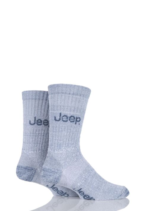 Mens 2 Pair Jeep Medium Weight Thermo Cool Terrain Socks Product Image