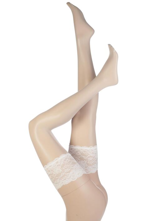 Ladies 1 Pair Trasparenze Athena Ultra Sheer Bridal Hold Ups Product Image