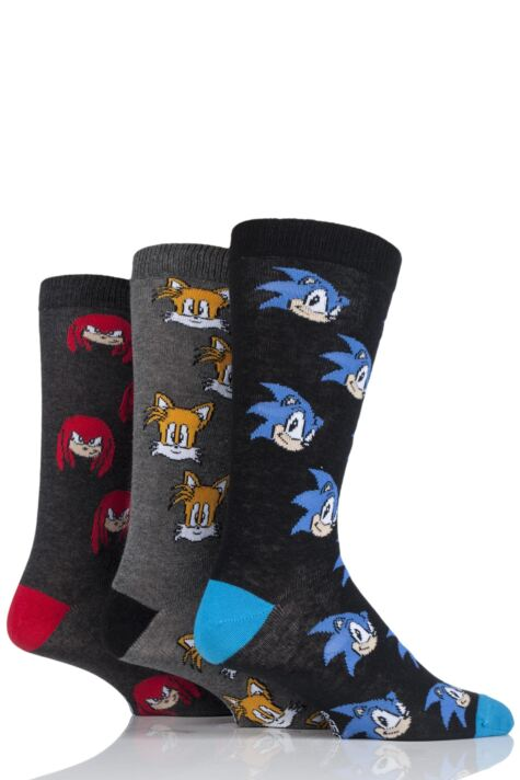 SockShop Sonic the Hedgehog, Knuckles and Tails Cotton Socks Product Image
