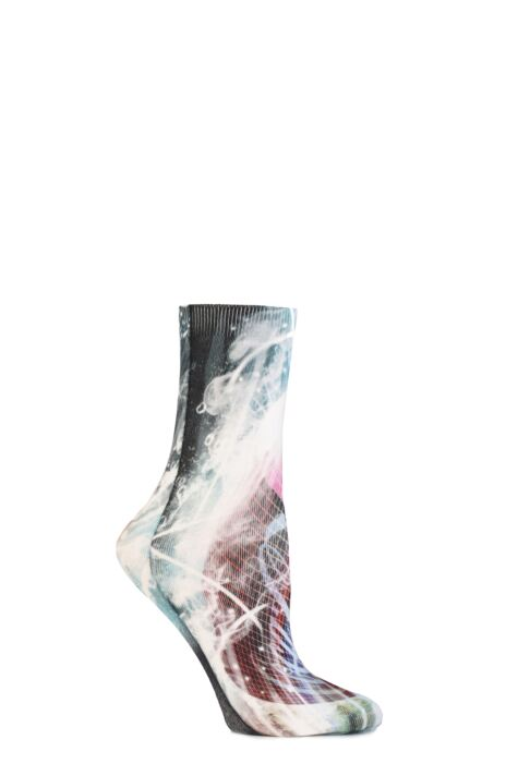 Ladies 1 Pair Coca Cola HD Printed Socks Product Image