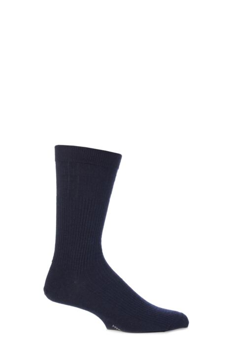 Mens 1 Pair Viyella Softouch Non Elastic Wool Socks With Hand Linked Toe Product Image