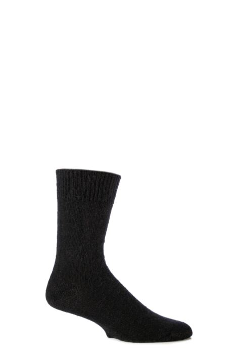 Mens and Ladies 1 Pair SOCKSHOP of London Mohair Plain Knit True Socks Product Image