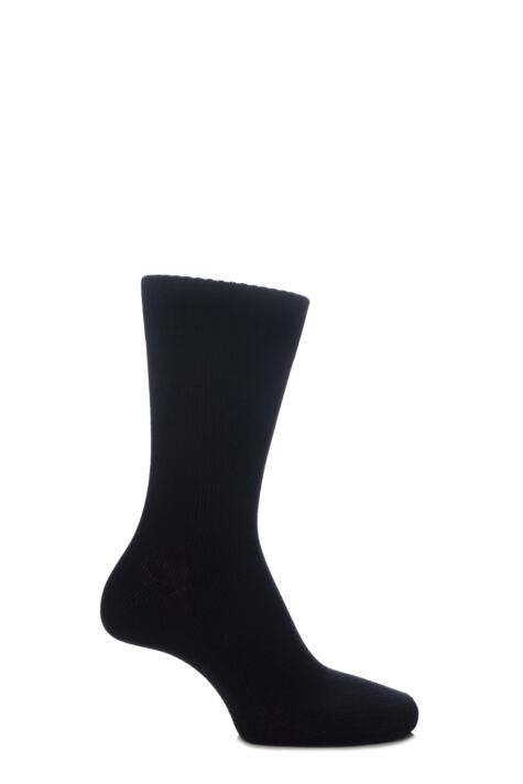 Mens and Ladies 1 Pair SockShop of London Bamboo Plain Knit True Socks Product Image