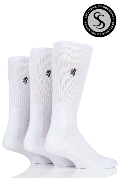a140d57f957 Mens 3 Pair Pringle Bamboo Cushioned Sports Socks Exclusive To SockShop  Product Image