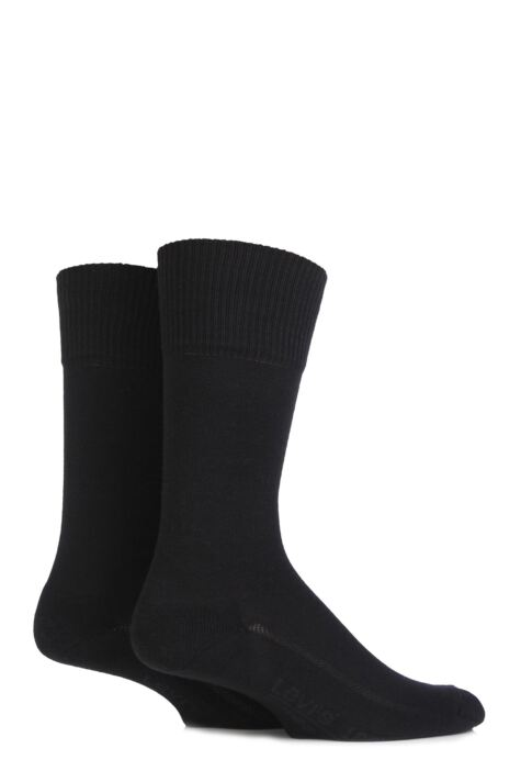 Mens 2 Pair Levis 168LS Plain Cushioned Crew Socks Product Image