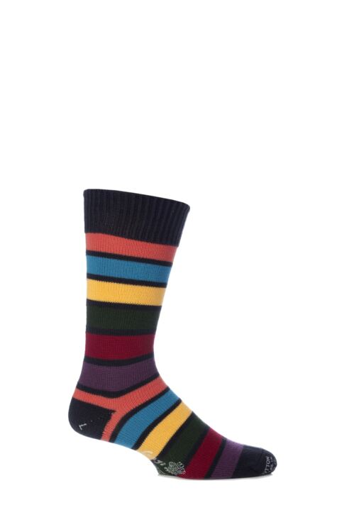 Mens 1 Pair Corgi 100% Cotton Stripe Socks Product Image