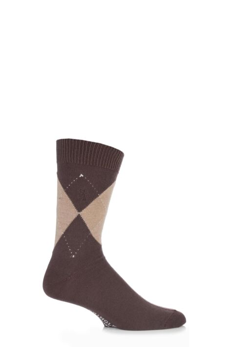 Mens 1 Pair Pringle of Scotland 80% Cashmere Argyle Pattern Socks 25% OFF This Style Product Image