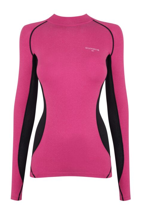 Ladies 1 Pack Glenmuir High Neck, Long Sleeved Compression Base Layer T-Shirt Product Image