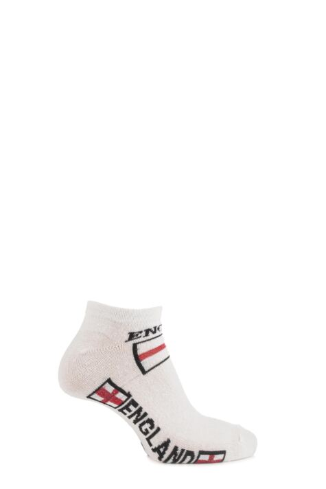 Boys and Girls 3 Pair England Trainer Socks Product Image