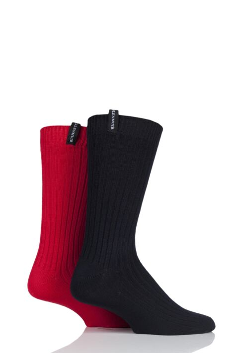 Mens 2 Pair Glenmuir Lightweight Ribbed Bamboo Boot Socks Product Image