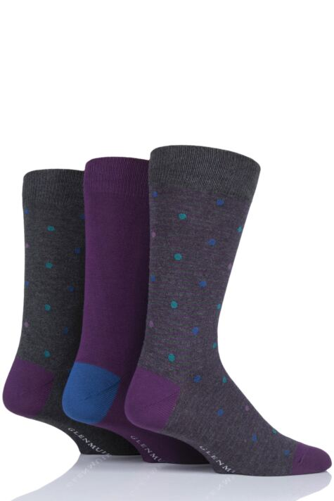 Mens 3 Pair Glenmuir Spots Bamboo Socks Product Image