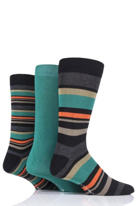 Mens 3 Pair Glenmuir Multi Stripe Bamboo Socks Product Image