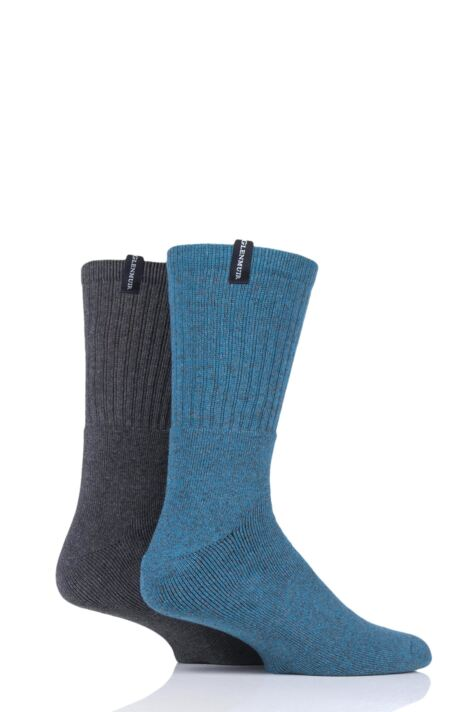 Mens 2 Pair Glenmuir Cotton Marl Cushioned Boot Socks Product Image