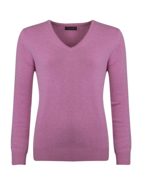 Ladies Great & British Knitwear Touch Of Cashmere V Neck Jumper Product Image