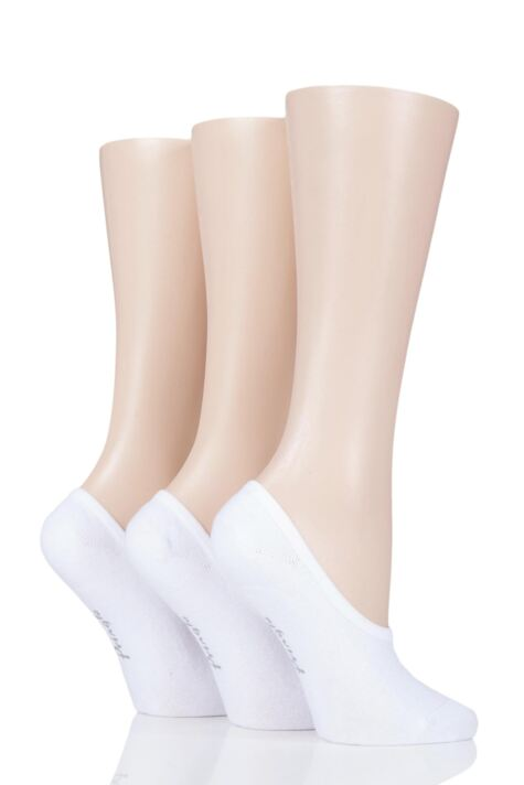 Ladies 3 Pair Pringle Cotton Shoe Liner Socks Product Image