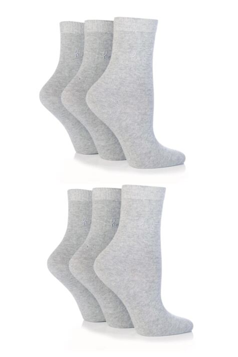 Ladies 6 Pair Pringle Tiffany Plain Trouser Socks Product Image