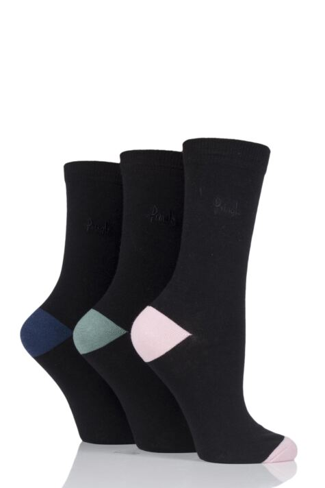 Ladies 3 Pair Pringle Terri-Ann Contrast Heel and Toe Socks Product Image