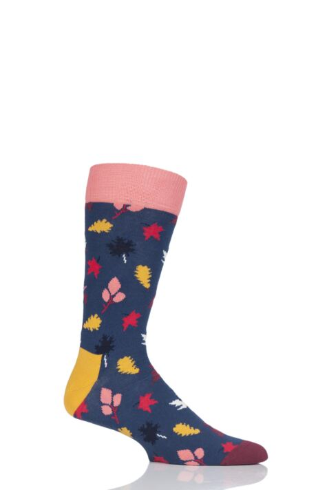 Mens and Ladies 1 Pair Happy Socks Fall Autumn Combed Cotton Socks Product Image