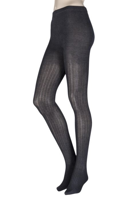 Ladies 1 Pair Elle Ribbed Bamboo Tights Product Image