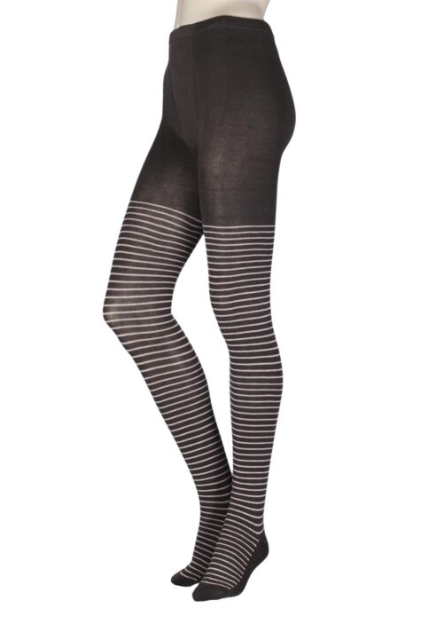 Ladies 1 Pair Elle Winter Soft Stripe Tights Product Image