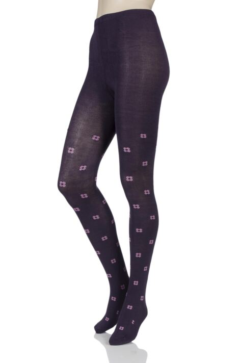 Ladies 1 Pair Elle Pattern Warm and Soft Winter Tights Product Image