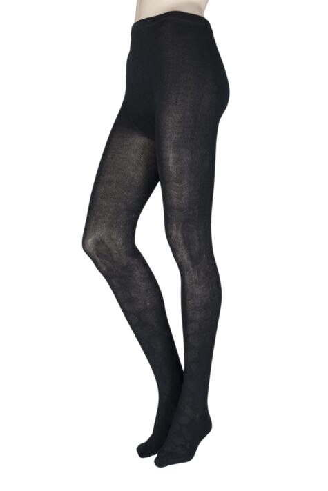 Ladies 1 Pair Elle Winter Soft Heart Patterned Tights Product Image