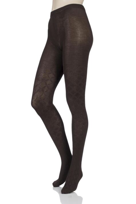 Ladies 1 Pair Elle Diamond Tile Patterned Tights Product Image