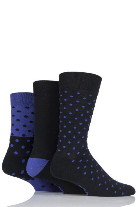 Mens 3 Pair Farah Cushioned Foot Spotty Socks Product Image