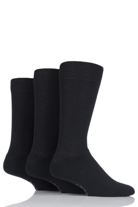 Mens 3 Pair Farah Cushioned Foot Plain Socks Product Image