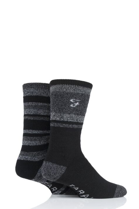 Mens 2 Pair Farah Brushed Inner Boot Socks Product Image