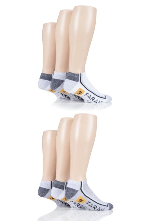 Mens 6 Pair Farah Cushioned Trainer Socks Product Image