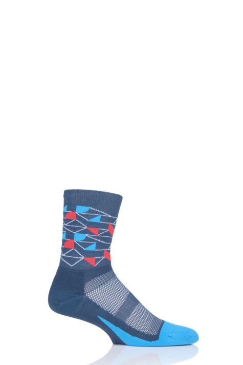 Mens and Ladies 1 Pair Feetures Elite Light Cushion Mini Crew Socks Product Image