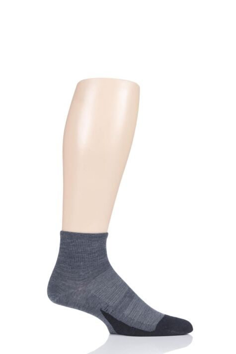 Mens and Ladies 1 Pair Feetures Merino 10 Ultra Light Quarter Socks Product Image