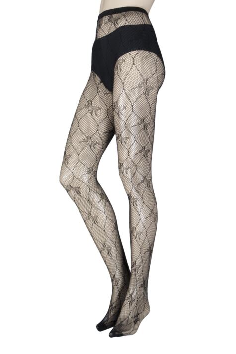 Ladies 1 Pair Elle Patterned Fishnet Tights Product Image