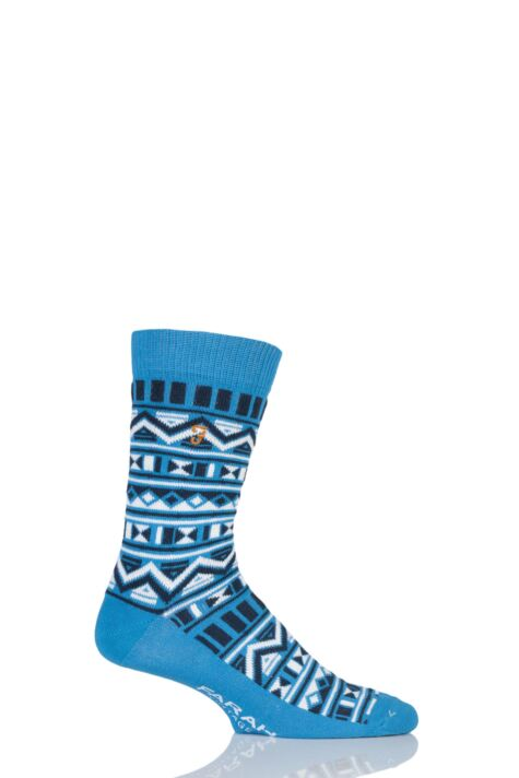 Mens 1 Pair Farah Vintage Tribal Patterned Cotton Socks Product Image
