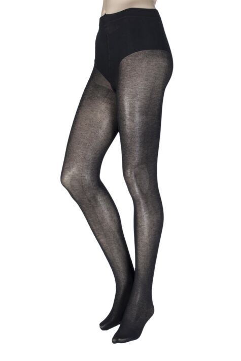 Ladies 1 Pair Trasparenze Georgia 100 Denier Cashmere Flat Seam Tights Product Image