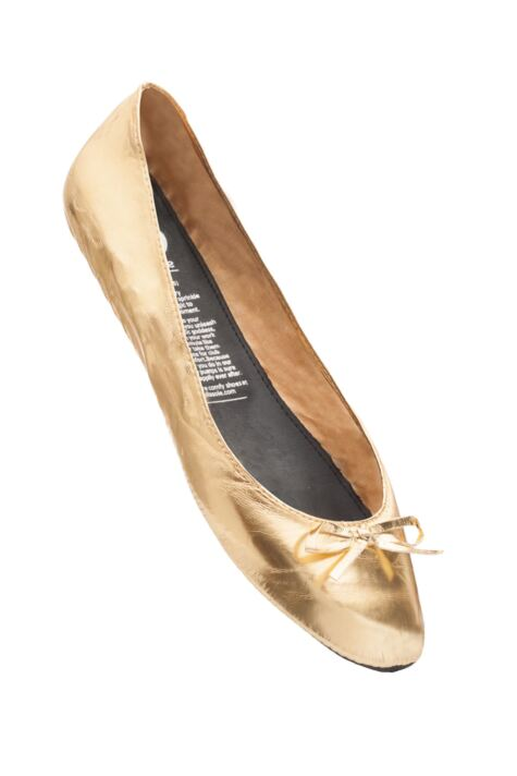 Ladies 1 Pair Rollasole Gold Digger Rollable Shoes to Keep in Your Handbag, Car or Office Desk Product Image
