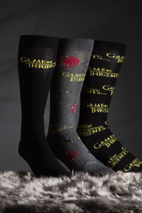 SockShop 3 Pair Game of Thrones Logo Cotton Socks Product Image