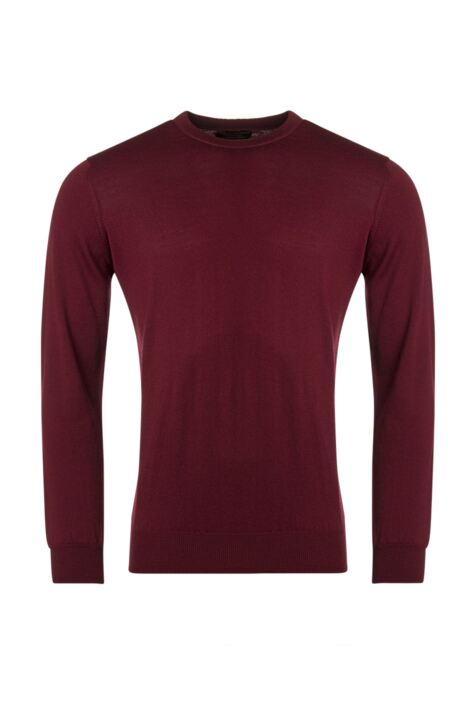 Mens Great & British Knitwear 100% Merino Plain Crew Neck Jumper Product Image