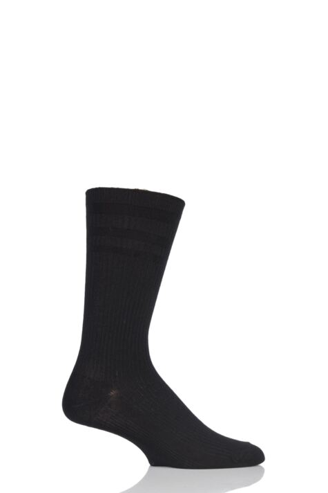 Mens 1 Pair HJ Hall Extra Wide Bamboo Softop Socks Product Image