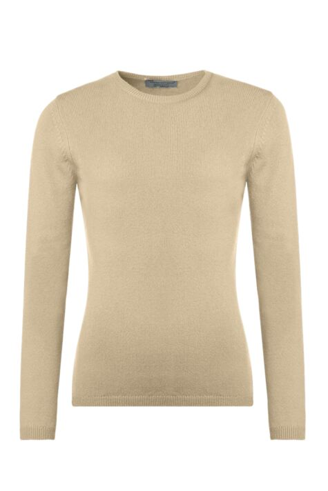 Ladies Great & British Knitwear 100% Lambswool Round Neck Jumper with Elbow Patch Detail Product Image